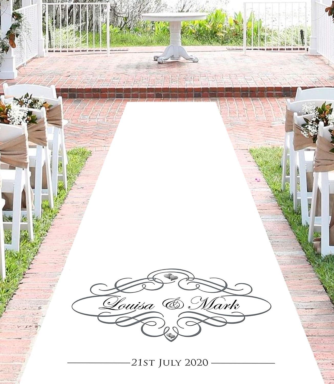 Elegance Wedding Aisle Runner (12 Metres) Personalised Wedding