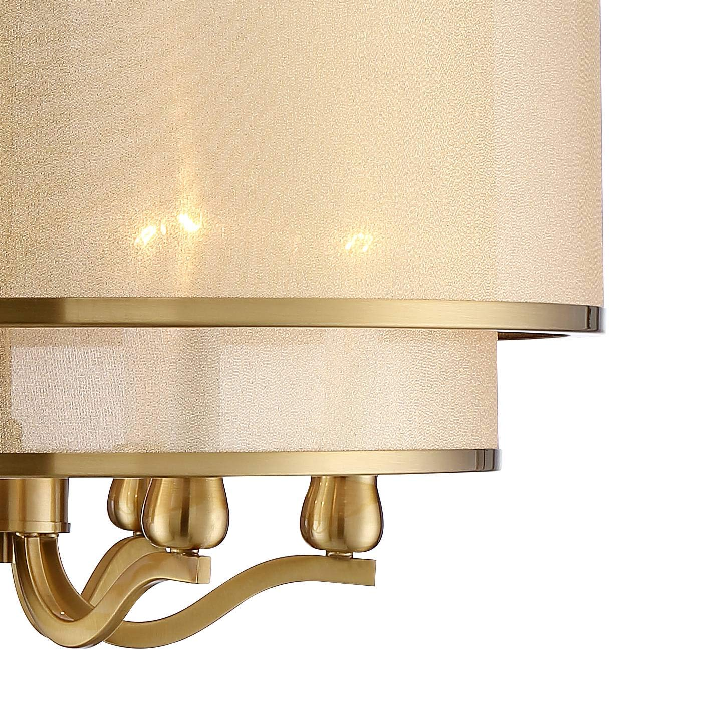 Possini Euro Nor 23 Wide Brushed Nickel 6-Light Pendant Possini Euro Design