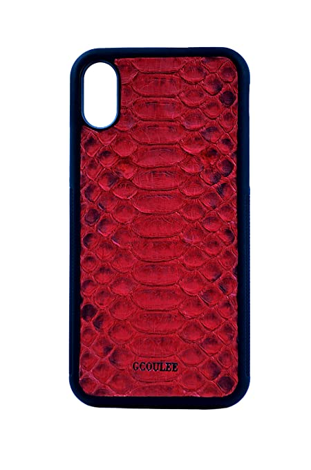 factory price 25655 f395e Amazon.com: G COULEE Python Leather iPhone case Snakeskin iPhone X ...