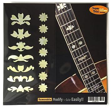 Pegatinas adhesivas para guitarra y borla Deluxe3 con incrustaciones de diapasón