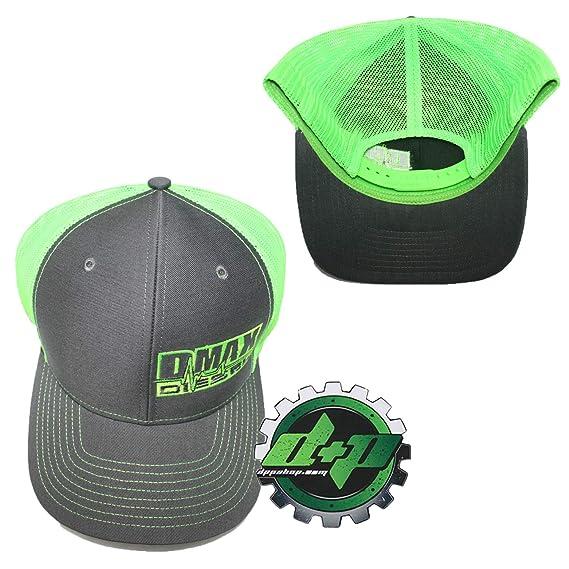 39b7c2ff4174f Amazon.com  Dmax Duramax Diesel Richardson Trucker hat Ball mesh Grey neon  Green snap Back mesh  Automotive