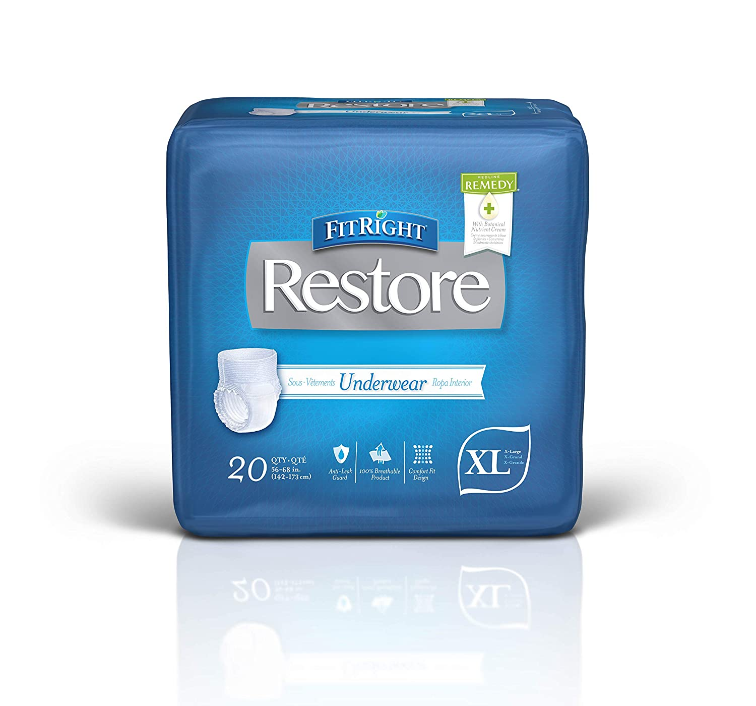 Amazon.com: FitRight Restore Adult Protective Underwear, Ultra Absorbency, SM-MD, 28
