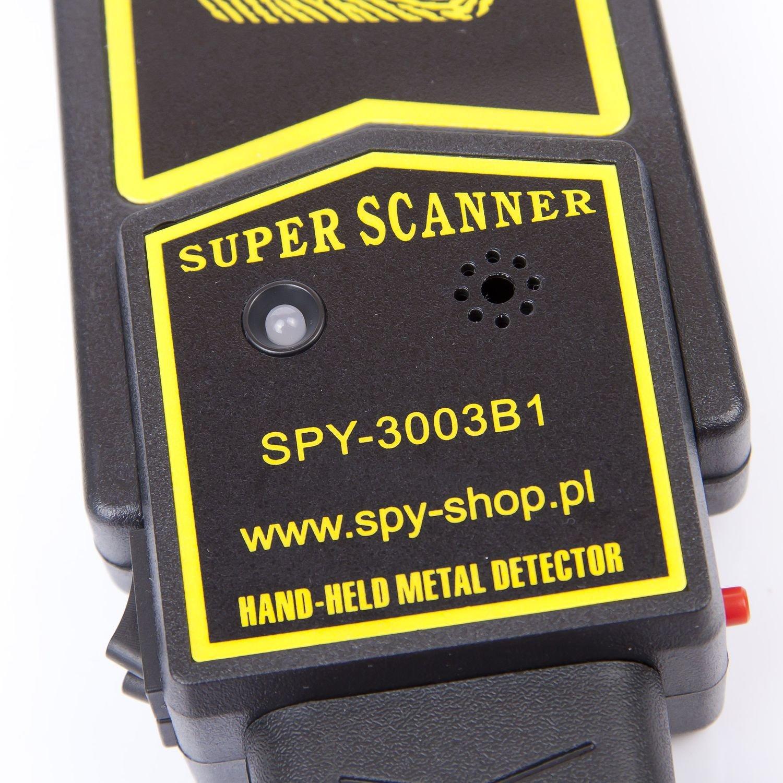 SECURITY detector de metales Super escáner/de metal-detector/dispositivo de mano/herramientas/escáner de mano/: Amazon.es: Bricolaje y herramientas