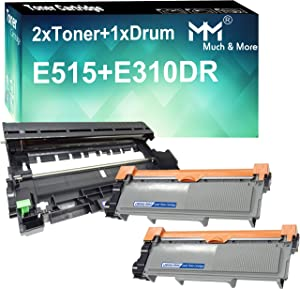 MM MUCH & MORE Compatible Toner Cartridge & Drum Unit Replacement for Dell 593-BBKD & 593-BBKE use with Dell E310dw E514dw E515dn E515dw Printers (3 Pack, 2 x Toner + 1 x Drum)