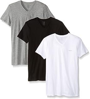 55841514 Amazon.com: Versace Collection Men's Black Cotton V-neck Medusa ...