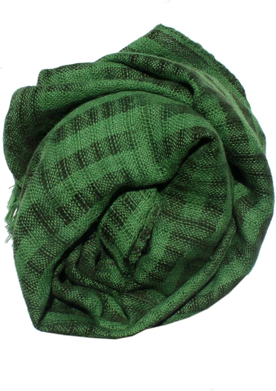 Ketzali Handmade Alpaca Green and Black Scarf
