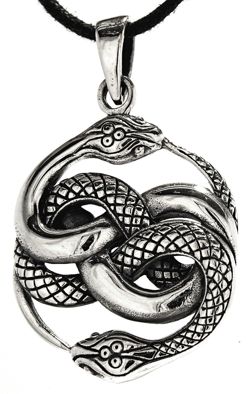 Schlangen Anhänger aus 925 Sterling Silber mit Baumwollband Eastern Gems ABC-1335