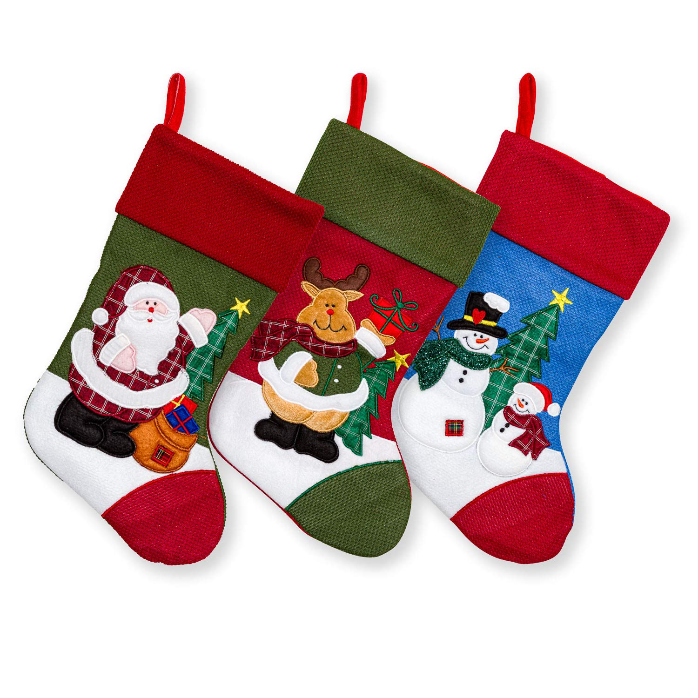 Personalised family Christmas xmas stocking set your names mummy daddy kids pet