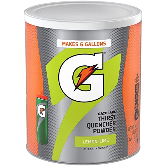 2db7147fc80d0e Image Unavailable. Image not available for. Colour  Gatorade Lemon Lime  Thirst Quencher Powder Drink Mix Makes 24 ...