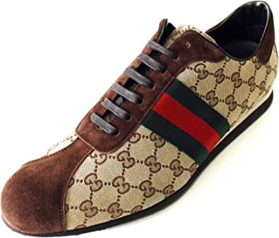 Gucci GG Fabric Lace-up Sneakers with