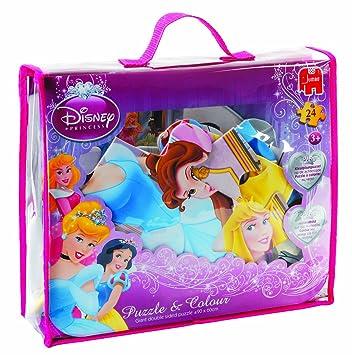 Jumbo 13147 - Puzzle de 24 piezas gigantes, diseño de Princesas Disney
