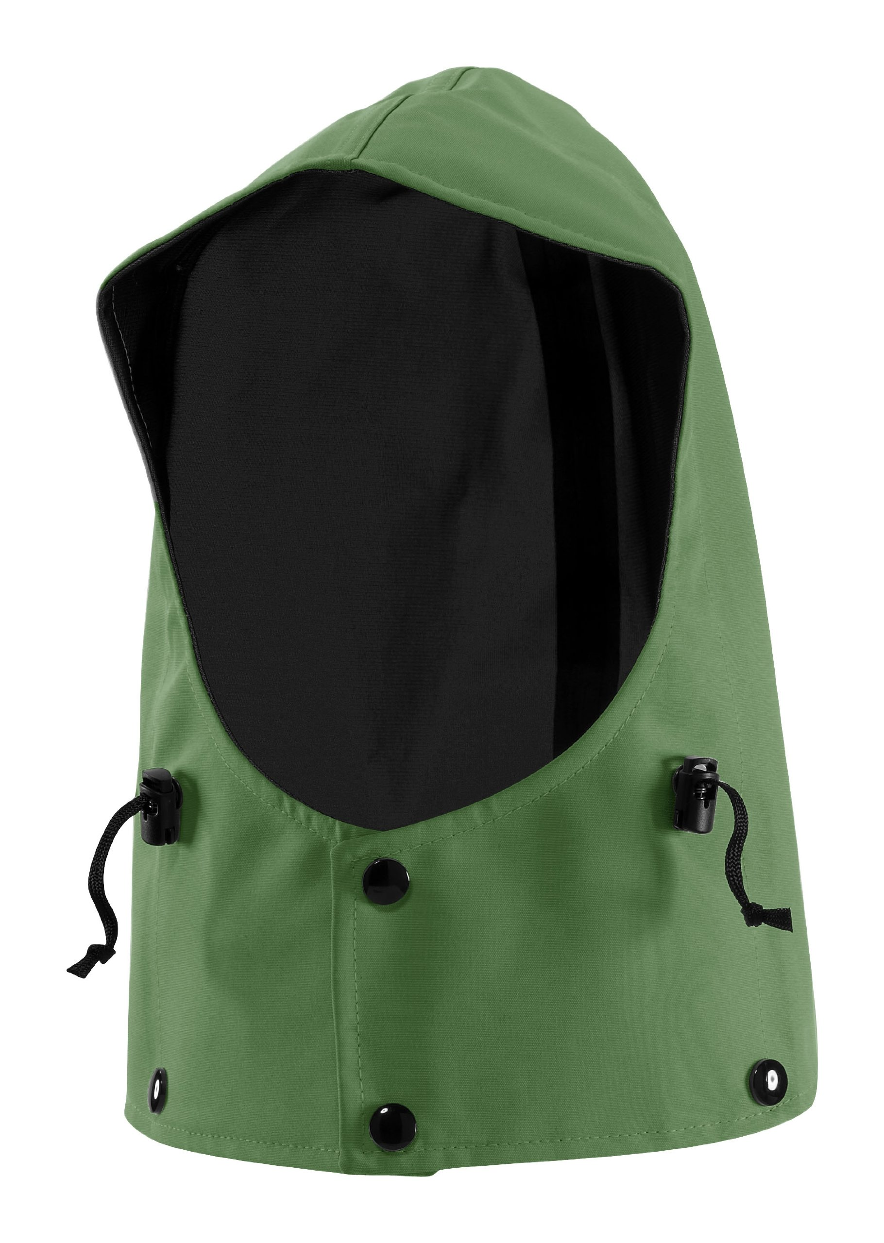 WaterShed 975041-TGR-LGE StormShield Waterproof Snap on GORE-TEX Hood, Large, Forest Green