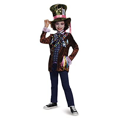 Mad Hatter Classic Alice Through The Looking Glass Movie Disney Costume, Large/10-12: Toys & Games