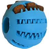 Zenify Puppy Toys Dog Toy Puppy Treat Training Behaviour Ball - Interactive Stimulation Gift for Smarter Dogs and Puppies (Blue (Small))