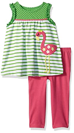 9c895a7332e Amazon.com: Kids Headquarters Baby Girls 2 Pieces Pants Set-Tunic: Clothing