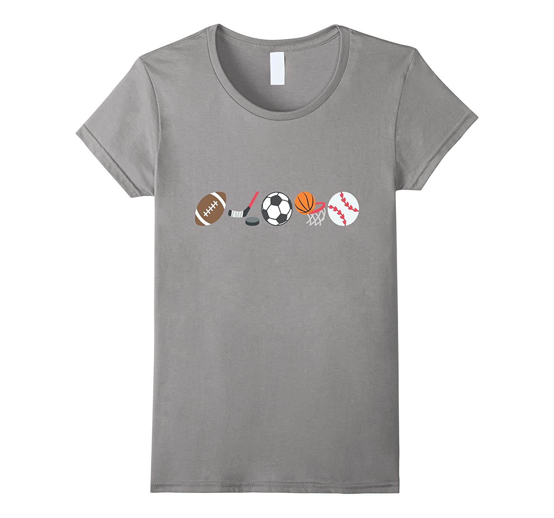 I love Sports Emoji t-shirt Boys Men Football Baseball
