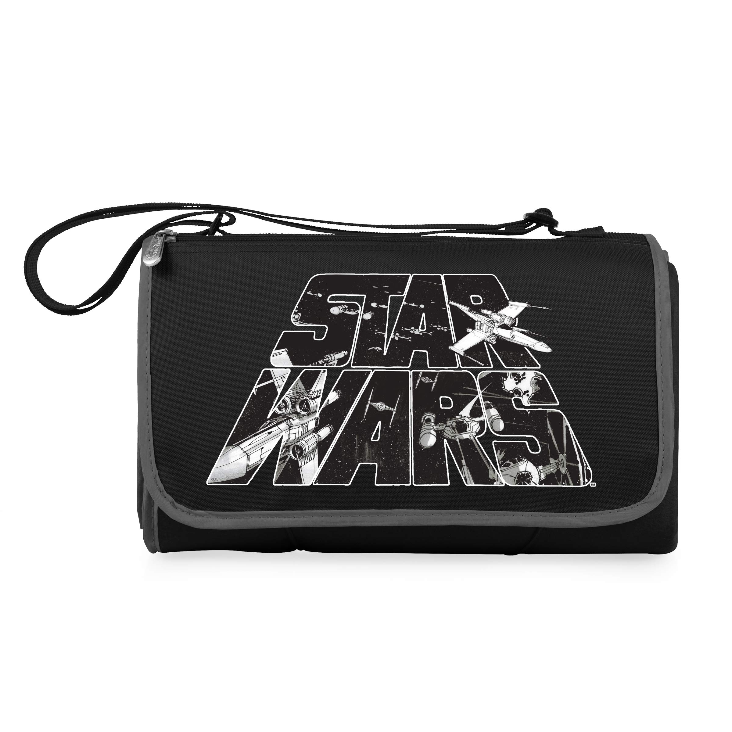 Lucas/Star Wars Outdoor Picnic Blanket Tote, Black by PICNIC TIME