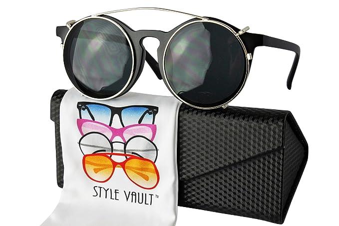 Amazon.com: w44-ec estilo Vault Clip en Wayfarer anteojos de ...