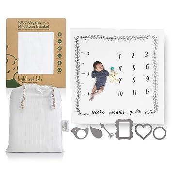 Amazon.com: Manta para bebé Milestone – Manta mensual para ...