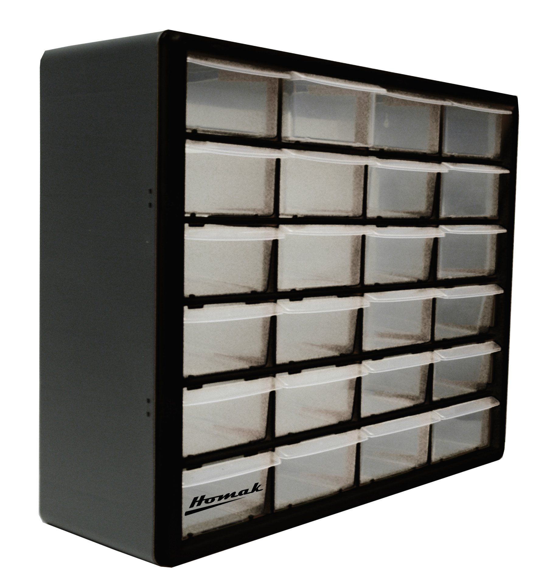 Homak 24-Drawer Parts Organizer, Black, HA01024152