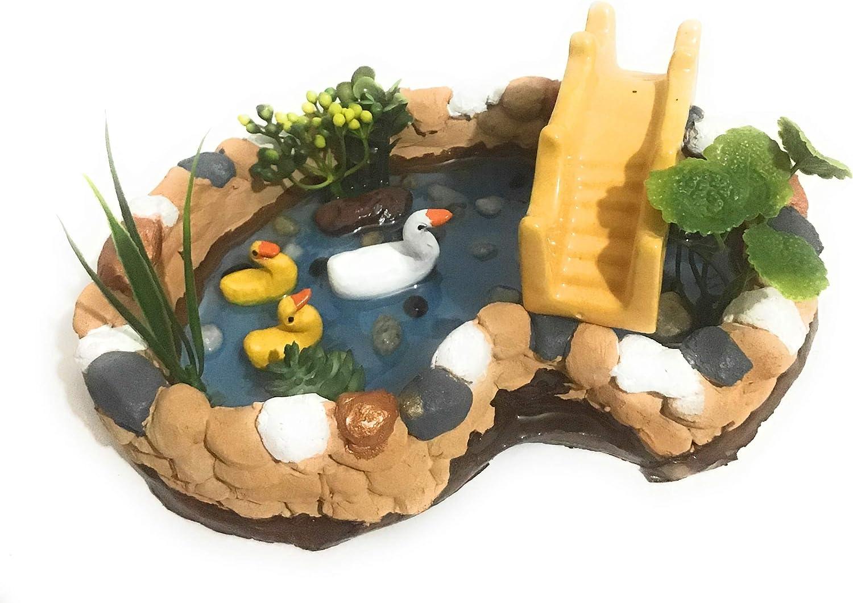 Fairy Pond with Ceramic Bridge (Yellow Color)