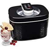 Cooks Professional Electric Ice Cream Maker Frozen Yoghurt Sorbet Machine Automatic 250W with 1.2 Litre Capacity & LCD Display (Black)