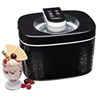 Cooks Professional Electric Ice Cream Maker No Pre- Freezing Frozen Yoghurt Sorbet Machine 250W with 1.2 Litre Capacity & LCD Display