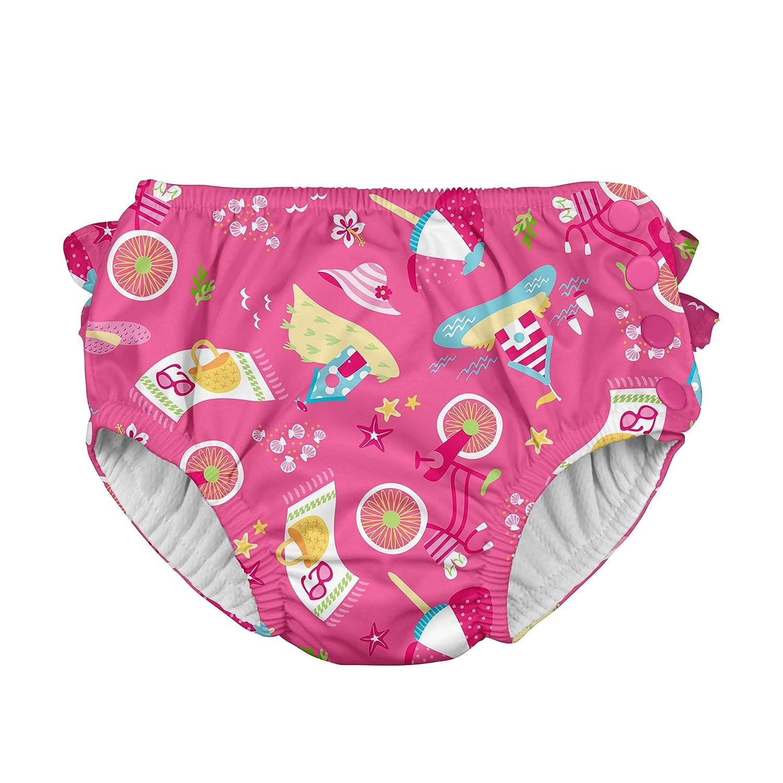 i play. 711153-407-43 - Pañal con volados y broche, Rosa (Hot Pink Cabana), 2-3 años