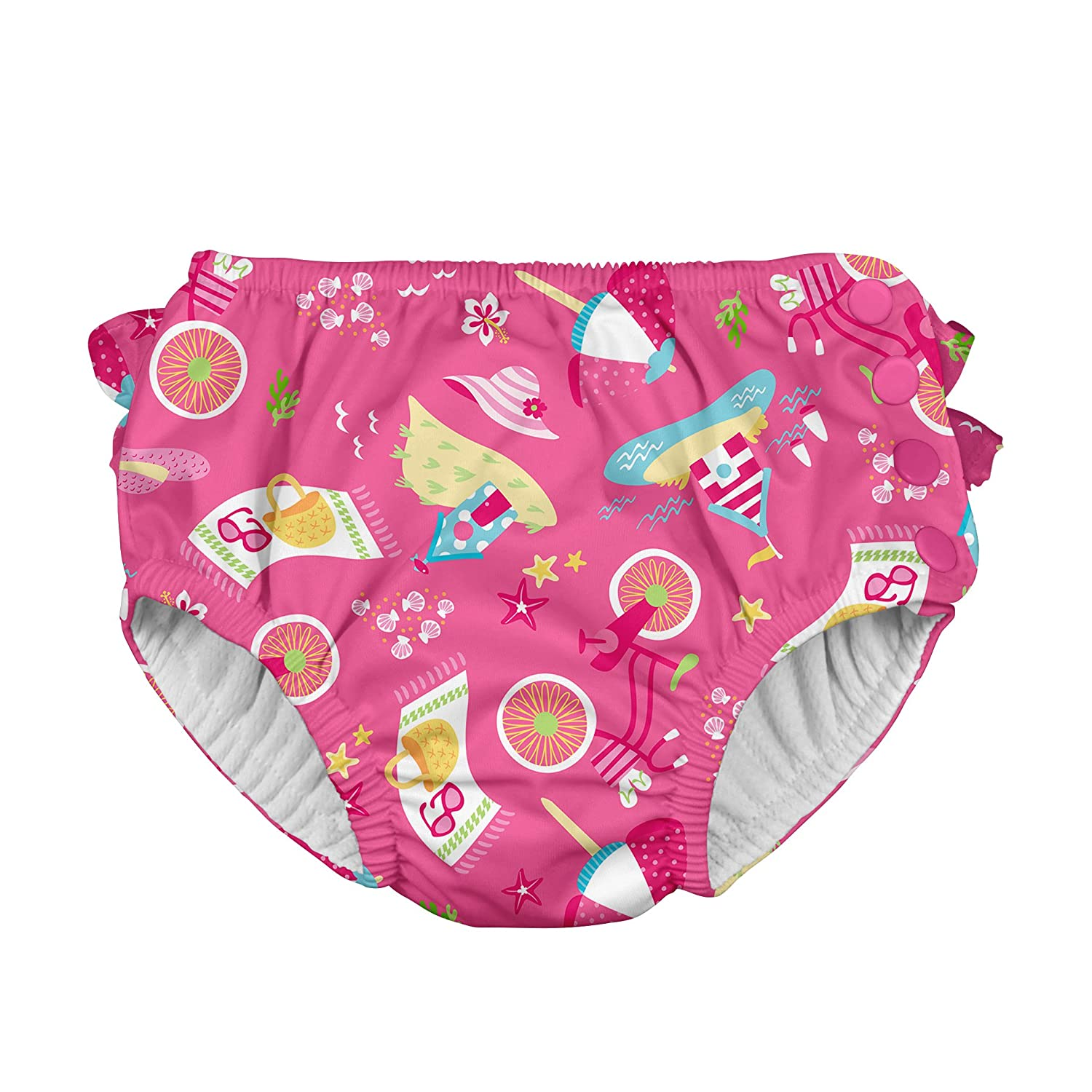 i play. Baby Girls Ruffle Snap Reusable Absorbent Swimsuit Diaper i play Children' s Apparel 711060-2300-42