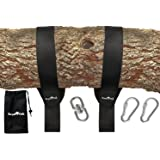 EASY HANG (8FT) TREE SWING STRAP KIT - Holds 4400lbs. - 2 Heavy Duty Carabiners - Bonus Spinner - Perfect for Hammocks and Swings – 100% Waterproof - Easy Picture Instructions - Carry Bag Included!