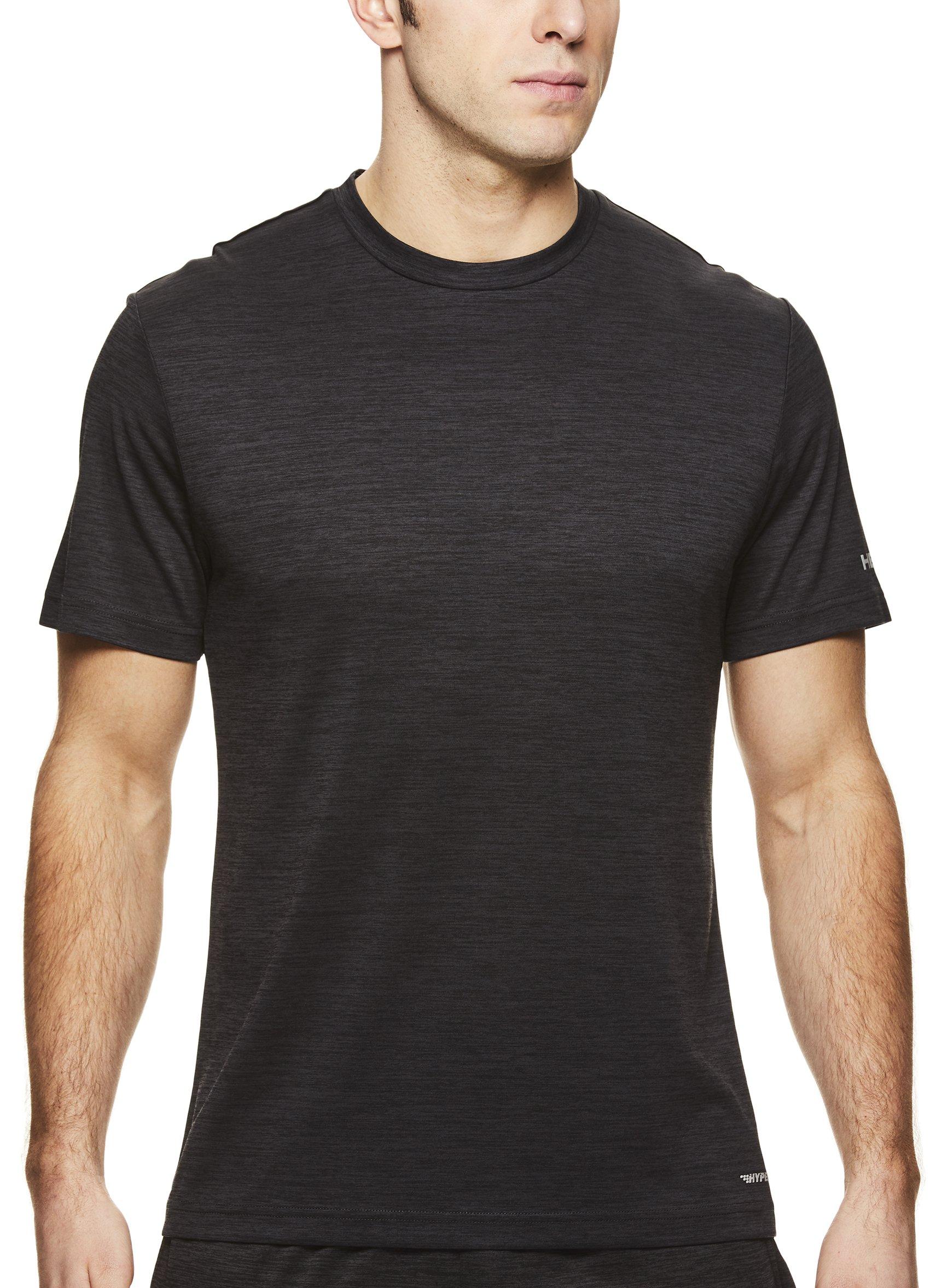HEAD Men's Ultra Hypertek Crewneck Gym Training & Workout T-Shirt - Short Sleeve Activewear Top - Ultra Black Heather, Small
