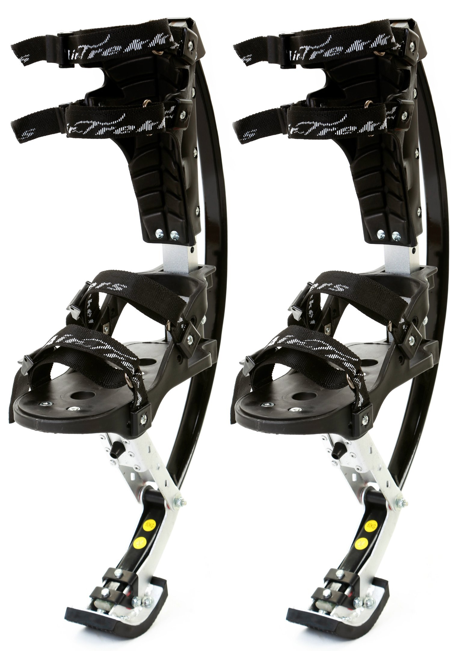 KIDS JUMPING STILTS by AIR TREKKERS Spring Loaded JUMP SHOES are Cool Gifts for Kids Ages 8-12 Develop Valuable Athletic Motor Skills! BOUNCE SHOES FOR KIDS with PROTECTION PADS and Cloth KNEE SUPPORT by Air-Trekkers (Image #1)