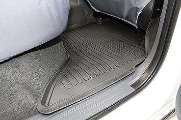 Tailored Fit Rubber Floor Mats In Black 5 Pcs Set Amazon Co Uk
