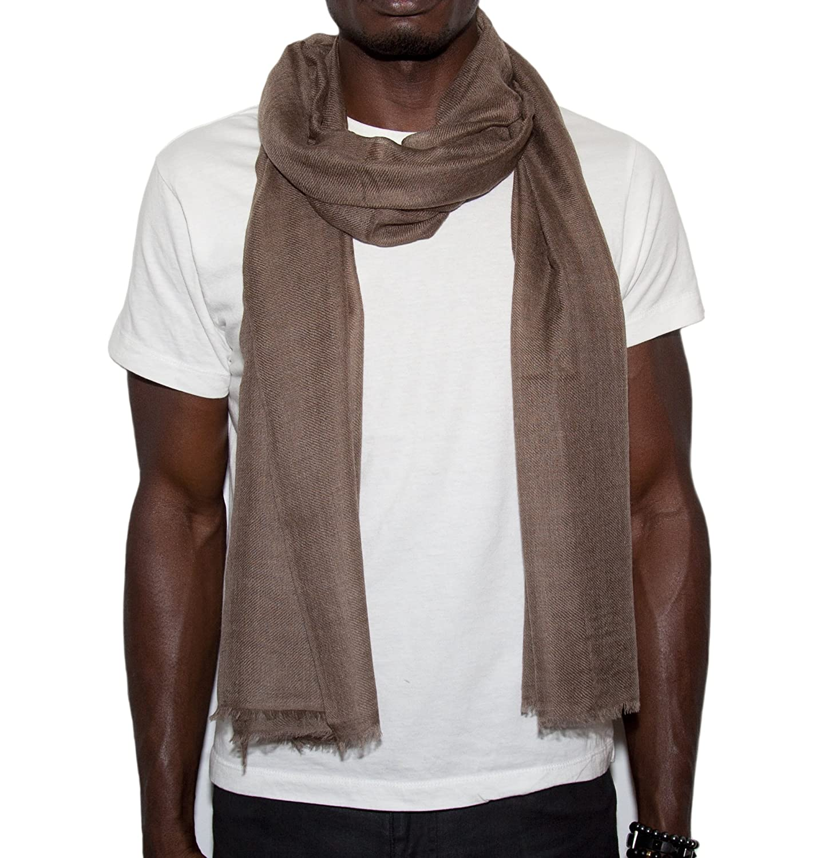 48b66d5af Amazon.com: Superfine Handmade 100% Cashmere Scarf (Light Brown): Clothing