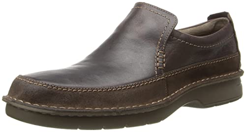 ea2e67972 CLARKS Men s Brown Leather Seeley Step 7.5 D(M) US