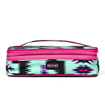 Amazoncom LONDON SOHO NEW YORK Tribe Vibe Double Zip Cosmetic Box
