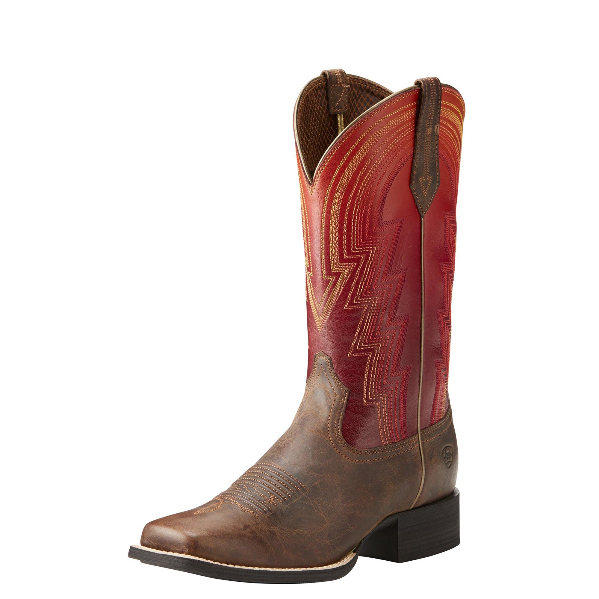 Ariat Women's Round up Waylon Work Boot, Rodeo Tan, 11 B US