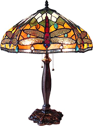 Chloe CH15042OD18-TL2 PANTALA Tiffany-Style Dragonfly Table Lamp