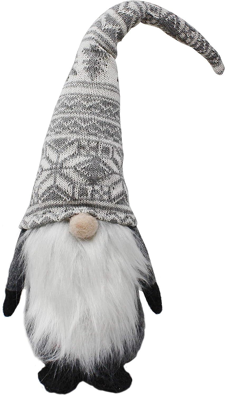JOYIN Christmas Gnome Swedish Santa Tomte Plush Grey Gnome Tabletop Ornament Christmas Decoration