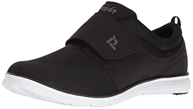 Propet Men's TravelFit Strap Walking Shoe, Black, 9.5 5E US