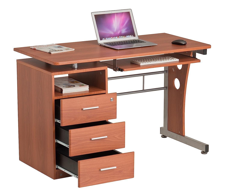 Scrivania con cassetti mobili ufficio casa tavolo da scrivania con ripiano tastiera | Tajir | Tajir Furniture