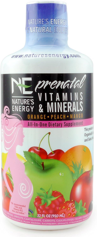 Nature's Energy Prenatal Vitamins & Minerals | Liquid Vitamin Supplement (32 oz bottle)