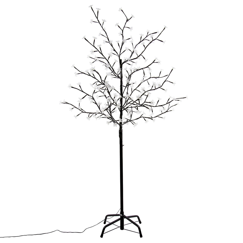 Weihnachtsbeleuchtung Led Baum.Nipach Gmbh 200 Led Baum Mit Blüten Blütenbaum Lichterbaum Weiß 150