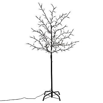 Led Weihnachtsbeleuchtung Baum.Nipach Gmbh 200 Led Baum Mit Blüten Blütenbaum Lichterbaum Weiß 150 Cm Hoch Trafo Ip44 Weihnachtsbeleuchtung Weihnachtsdeko Lichterdeko Xmas