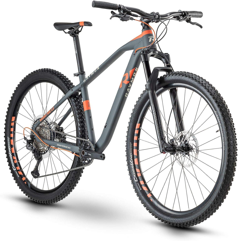 RAYMON HardRay Nine 5.0 2020 - Bicicleta de montaña (29''), Color Gris y Rojo
