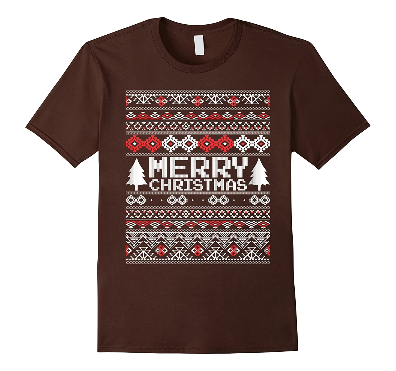 Ugly Sweater Aesthetic Merry Christmas T-shirt-Art