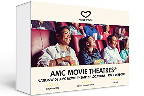 AMC Movie Theatre Tickets For Two Experience Gift Card