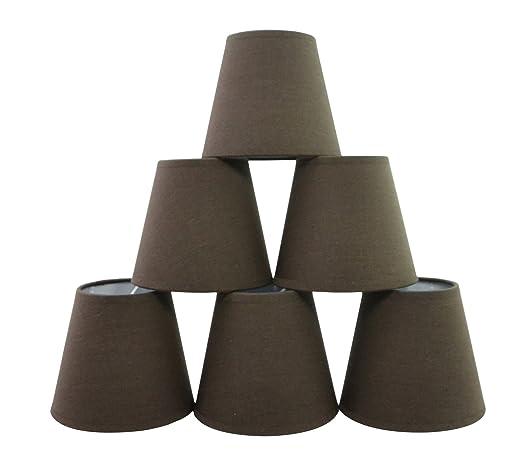 Conjunto de 6 piezas clamp pantalla de lmpara para lampara y conjunto de 6 piezas clamp pantalla de lmpara para lampara y lampara de pared chocolate aloadofball Gallery