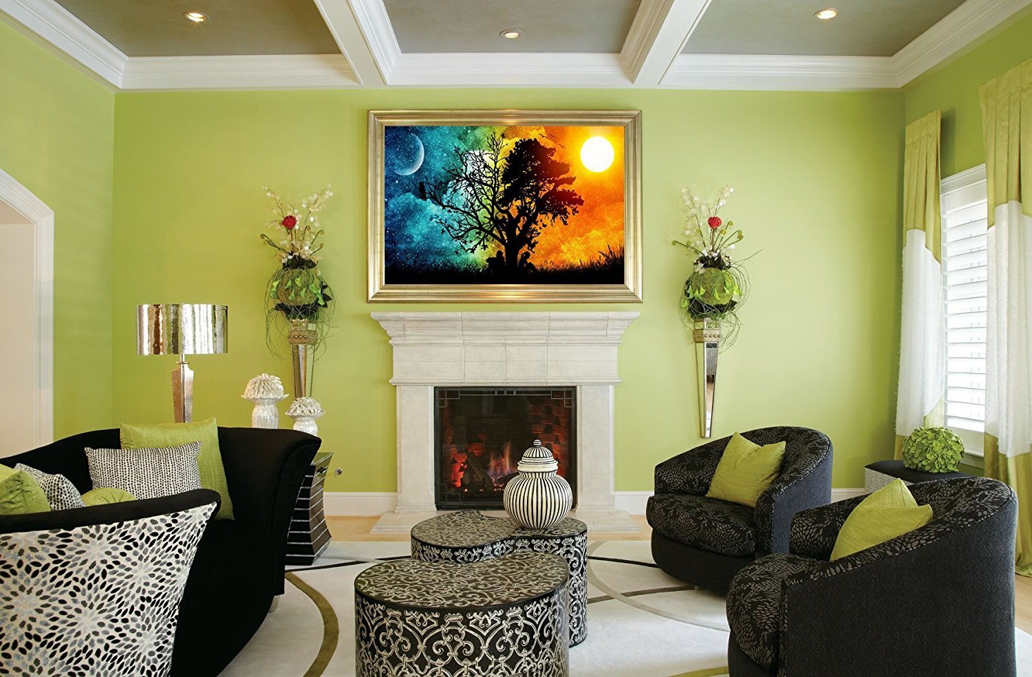 5D Diamond Painting,Rhinestone Diamond Embroidery Paintings Pictures DIY Paint with Diamonds Arts Craft for Home Wall Decor 35 x 50cm Full Drill