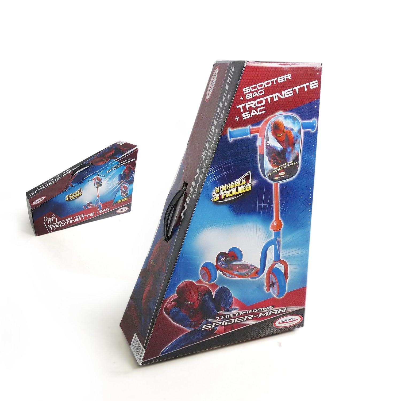 Amazon.com: Spider Man 3 ruedas patinete con bolsa: Toys & Games